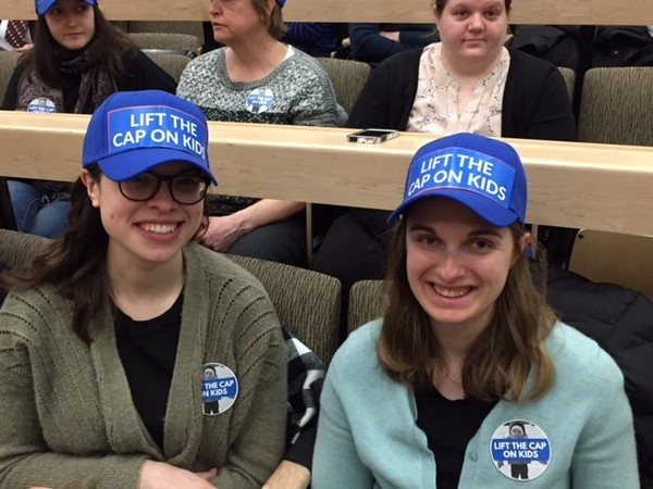 "Advocates for the ""Lift the Cap on Kids"" campaign"