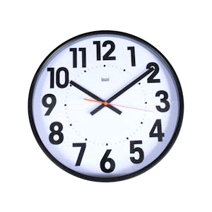 15 Inch Wall Clock Extra Large Black Numbers on a White Dial