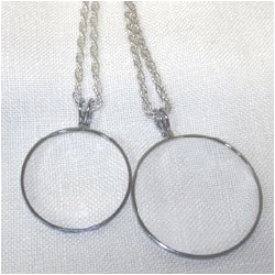 4X Everyday Silver Tone Pendant Magnifier with Chain