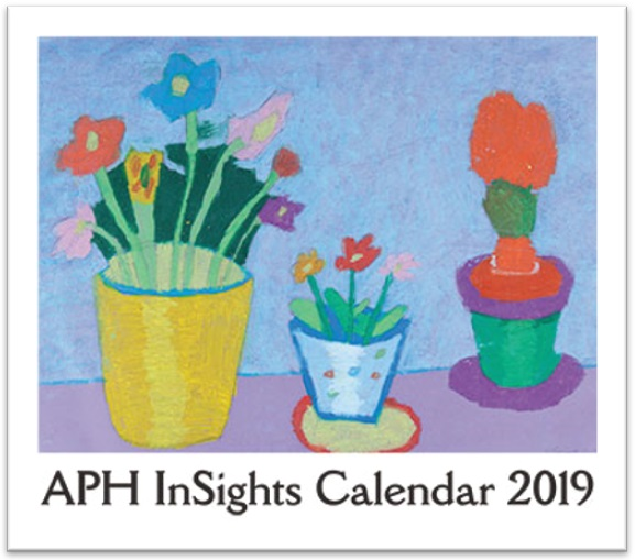 APH InSights Art Calendar: Large Print Braille