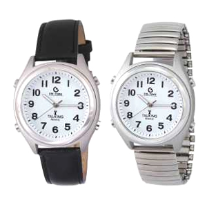 Atomic Talking Time and Date Alarm Watch