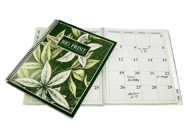Big Print Date Calendar