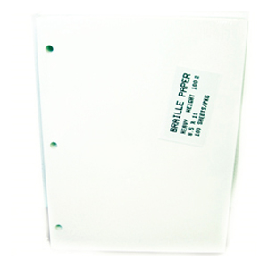 Braille Paper, Heavyweight 8.5 x 11 3 Hole Punch