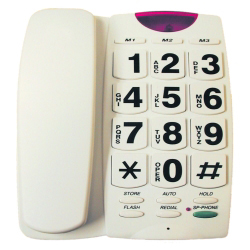 Giant-Button Speaker Phone with Flashing Ringer