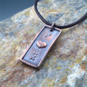 I Heart You Braille Necklace