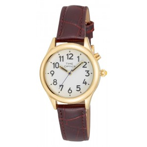 Ladies Dual Voice Talking Watch With Leather Strap