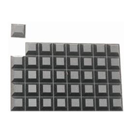 Large Black Square Bump Dots