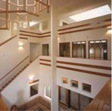 A photo of the inner atrium in the newly renovated main facility.