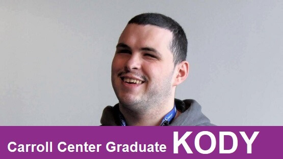 A recent Carroll Center Graduate, Kody M., discusses how important customized instruction has helped him in a YouTube video testimonial.