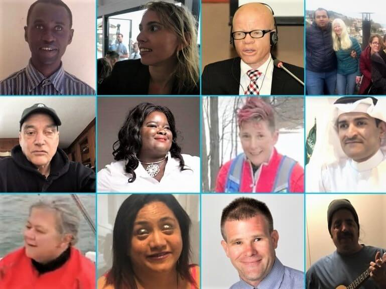 A grid of 12 photos featuring head shots of Holman Prize finalists.