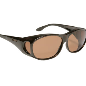 Eschenbach Haven Sunwear in Tortoise color frame with amber tinted lens.